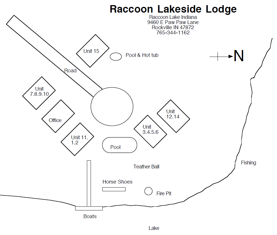 Raccoon Lodge Layout